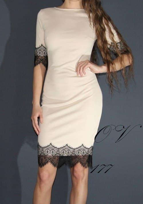 Платья с отделкой кружевом своими руками 210