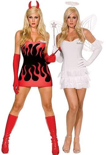 Двойной костюм ангел-дьявол - фото 8179