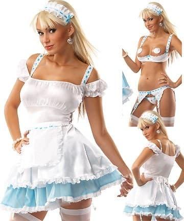 Эротический костюм горничной из 5 частей - фото 9681