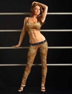 Леопардовый костюм топ и леггинсы. Светлый леопард