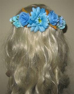 Ветка голубых цветов на гребне 2403