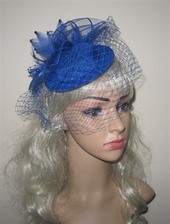 Синяя вуалетка Фелисити