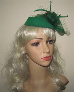 "Шляпка ""Жанет"" без вуали. Зеленая"