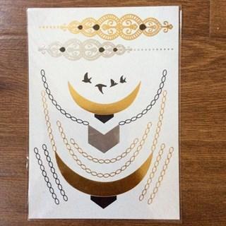 """Золотое тату """"ожерелье на цепочках"""" 7011"""