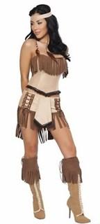 Костюм индейской девушки: топ и юбка