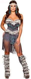 Костюм индейской девушки с шортами