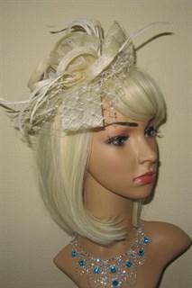 Молочная плетеная шляпка Ванесса