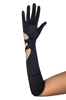 Сатиновые перчатки с фигурным вырезом