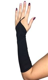 Мвтовые перчатки  на один палец. Спандекс. Черные