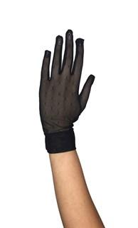 """Короткие перчатки. Сетка """"мушка"""". Черные"""