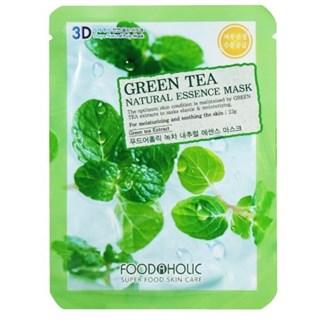 Экстракт зеленого чая. Тканевая 3D маска от FOODaHOLIC