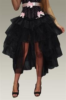 Пышная юбка с хвостом из фатина. Черная