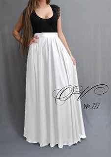 Молочная шифоновая юбка в пол. 111
