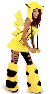 Меховой костюм желтого покимошки