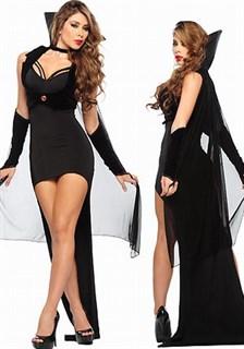 Шикарный костюм королевы ночи - платье и велюровое болеро