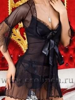 Сорочка и пеньюар с кружевом Lolita от Dea Fiori