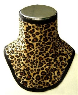 Леопардовый меховой корсет на шею