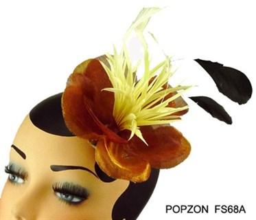 Брошь - цветок коричневого цвета