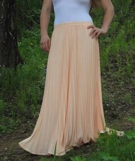 Плиссированная юбка цвета чайной розы. 3/4 солнца