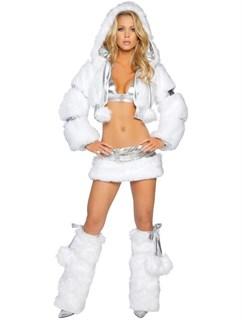Белый меховой костюм для Go-Go
