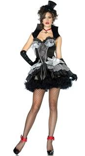 Карнавальный костюм королевы ночи - серое платье с чашками