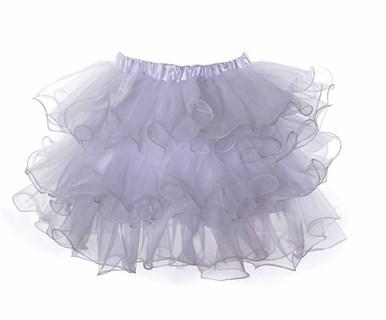 Белая пышная юбка фонарик