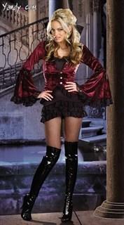 Эксклюзивный костюм королевы ночи - мини платье и пиджак