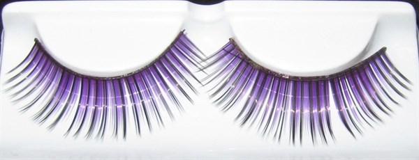 Накладные ресницы черные c фиолетовым F8
