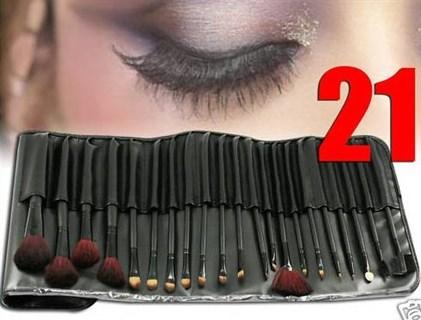 21 кисть для макияжа в черном чехле