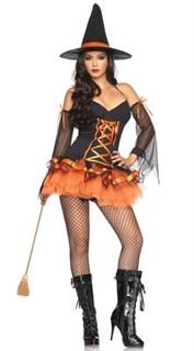Платье ведьмочки с рукавами