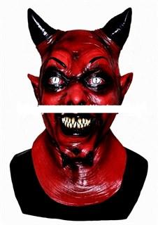 Маска красного демона с рогами