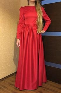 Красное классическое платье в пол