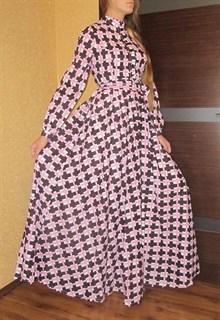 Длинное платье рубашка  в клетку