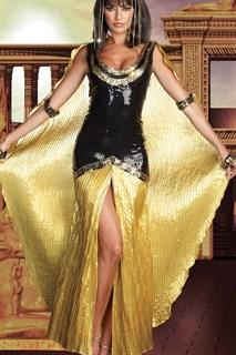 Египетская царица с золотым шлейфом