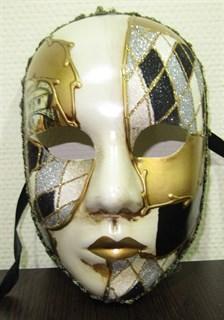 Веницианска маска черная