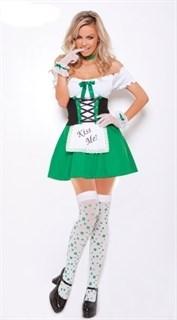 Зеленое платье баварской девушки