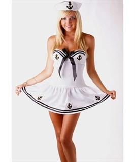 Белый костюм морячки с чашечками