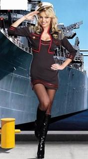 Костюм помощницы капитаны - платье и пиджак с погонами