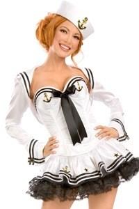 Карнавальный VIP костюм морячки с корсетом