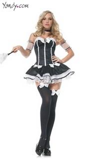 Игровой костюм горничной - платье без лямок, Веничек в подарок
