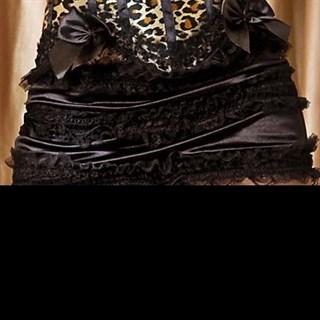 Черная мини юбка с кружевом